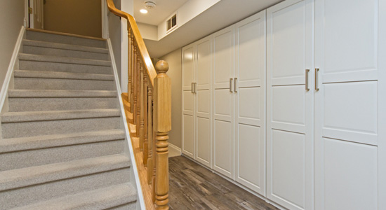 Extra Storage Basement Remodel