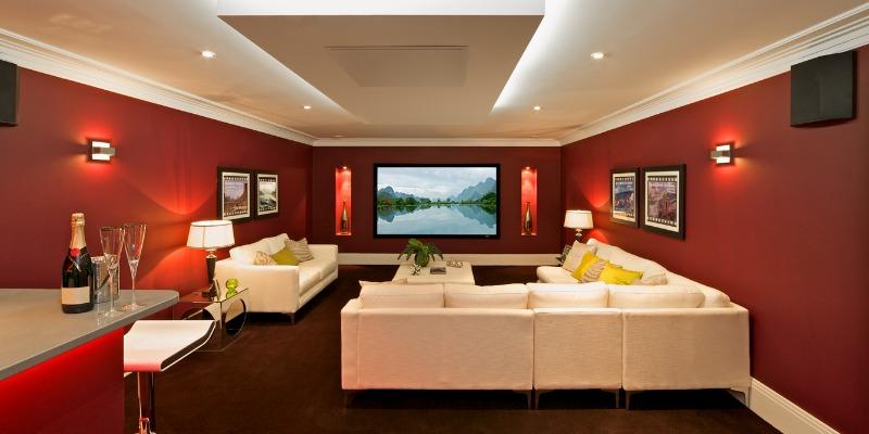 renovated home basement